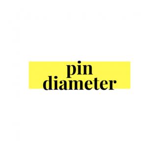 PIN DIAMETER